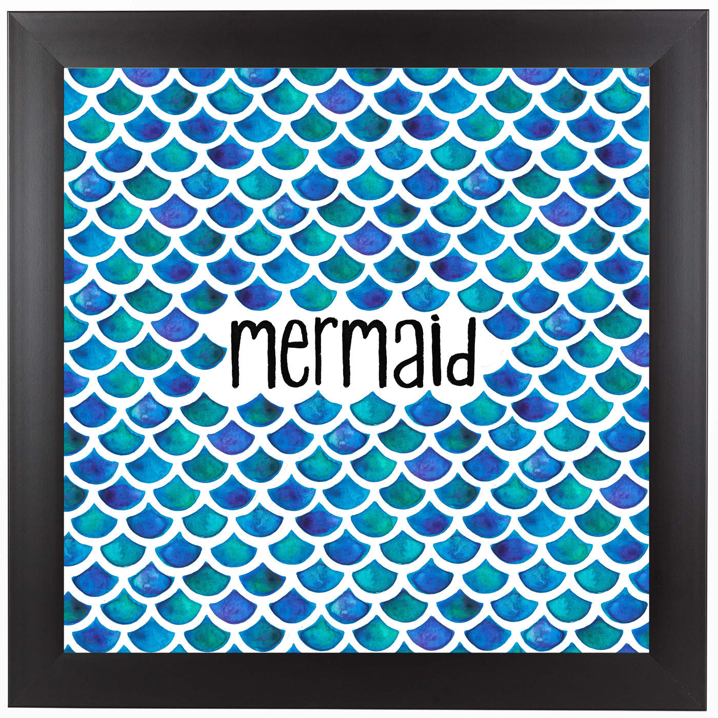 Mermaid In Blue by Elena O'Neill Framed Print