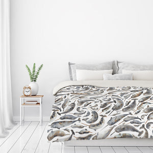 Narwhals by Elena O'Neill Duvet Cover