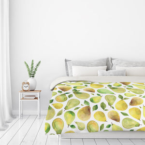 Pears by Elena O'Neill Duvet Cover