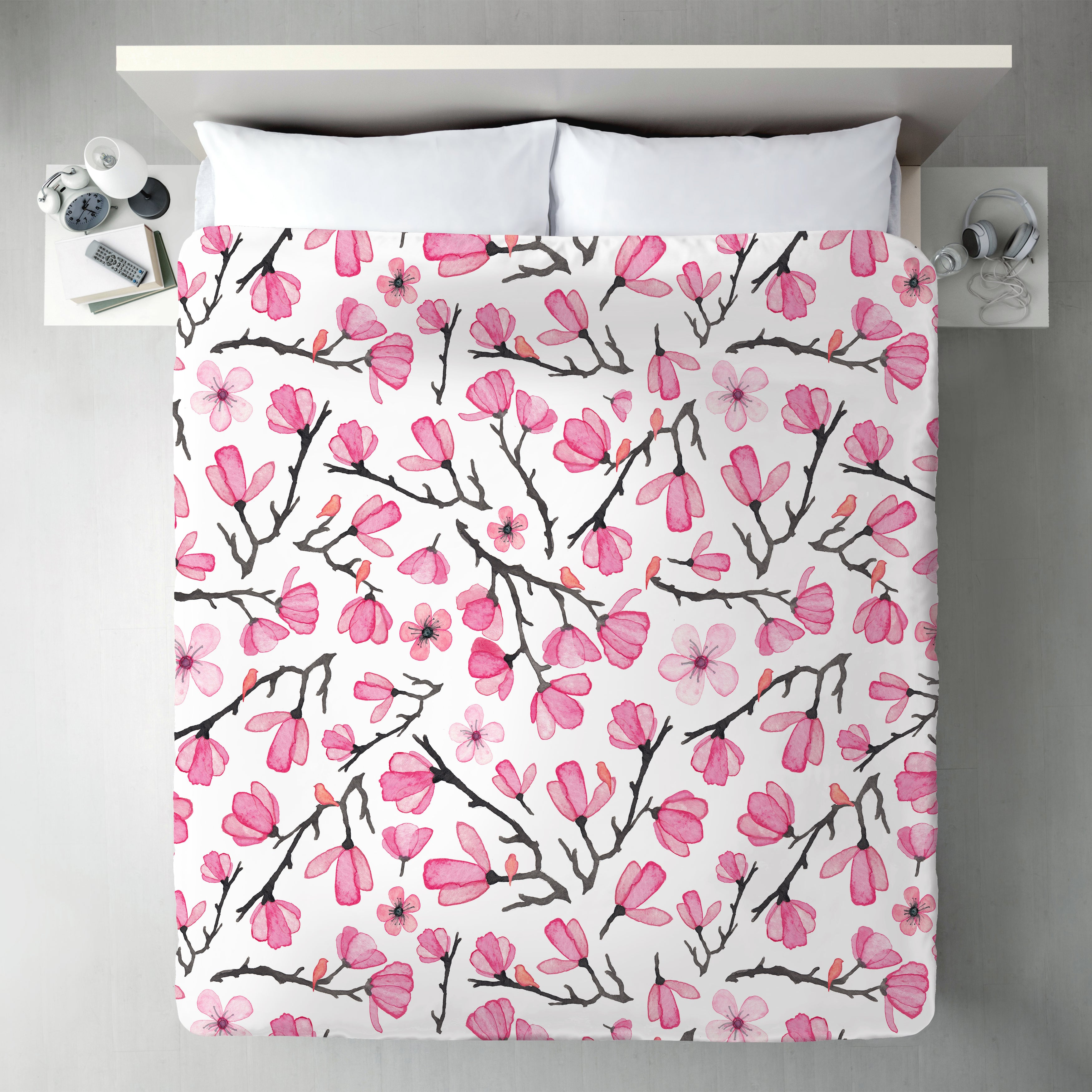 Pink Cherry Blossom by Elena O'Neill Duvet Cover - Duvet Covers - Americanflat