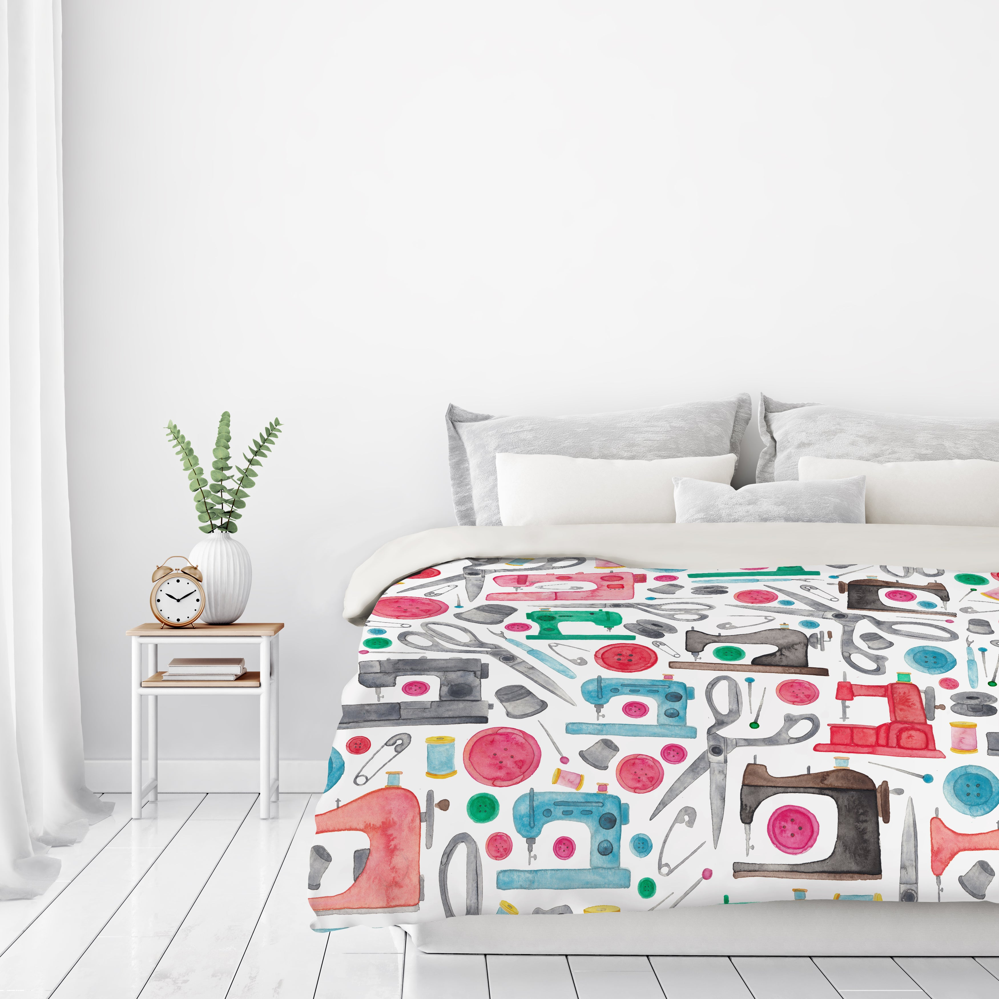 Sewing Pattern by Elena O'Neill Duvet Cover
