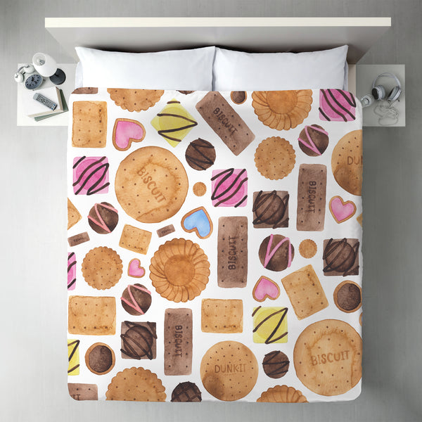 Sweets And Biscuits by Elena O'Neill Duvet Cover