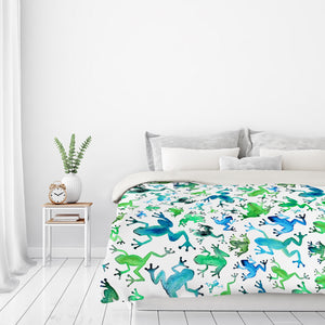 Tree Frogs by Elena O'Neill Duvet Cover