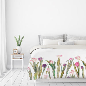 Tulips by Elena O'Neill Duvet Cover