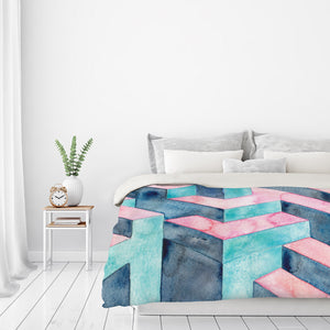 Watercolor Illusion by Elena O'Neill Duvet Cover