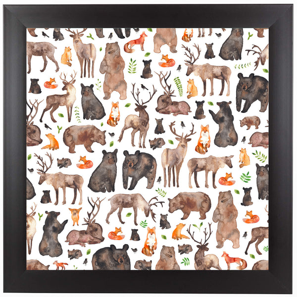 Woodland Animals by Elena O'Neill Framed Print