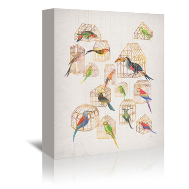 Architectural Aviary by David Fleck Wrapped Canvas - Wrapped Canvas - Americanflat