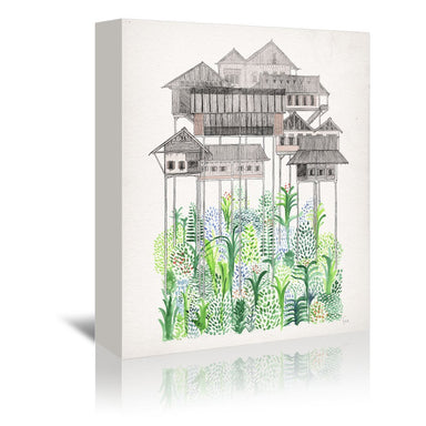 Cambodian Stilts by David Fleck Wrapped Canvas - Wrapped Canvas - Americanflat