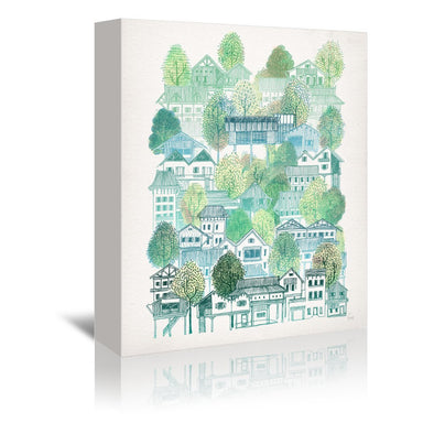 Cambodian Village by David Fleck Wrapped Canvas - Wrapped Canvas - Americanflat