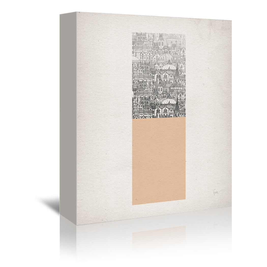 Colorful Cities by David Fleck - 3 Piece Wrapped Canvas Set - Wrapped Canvas - Americanflat