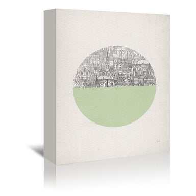 Circle by David Fleck Wrapped Canvas - Wrapped Canvas - Americanflat