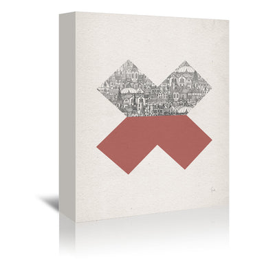 Cross by David Fleck Wrapped Canvas - Wrapped Canvas - Americanflat