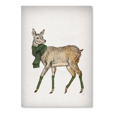 Deer by David Fleck Art Print - Art Print - Americanflat
