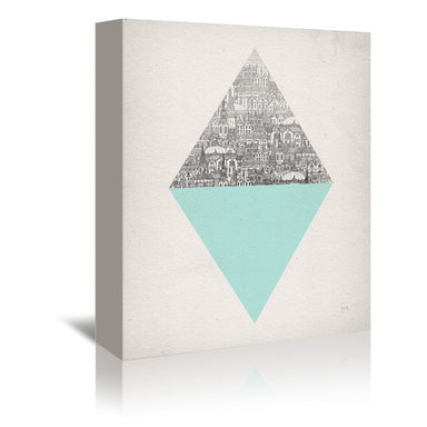 Diamond by David Fleck Wrapped Canvas - Wrapped Canvas - Americanflat