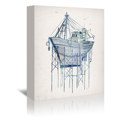 Dry Dock 1 by David Fleck Wrapped Canvas - Wrapped Canvas - Americanflat