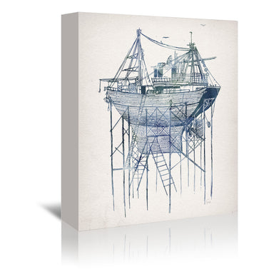 Dry Dock 2 by David Fleck Wrapped Canvas - Wrapped Canvas - Americanflat