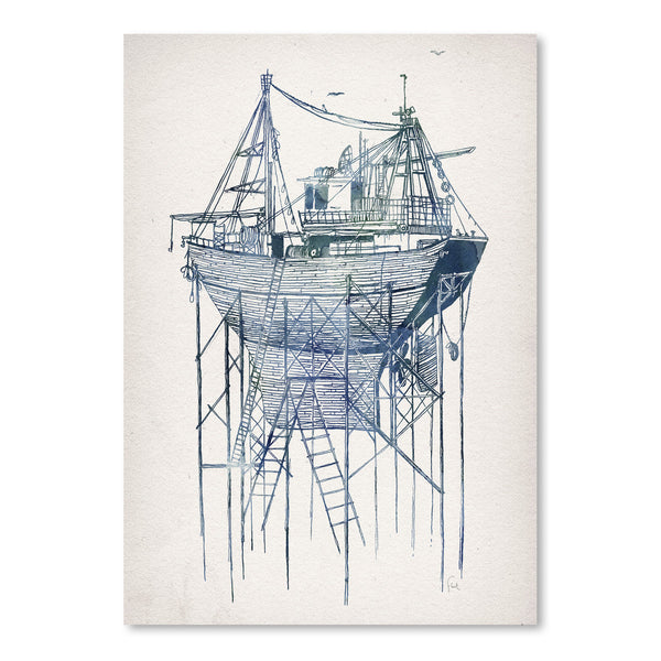 Dry Dock 2 by David Fleck Art Print