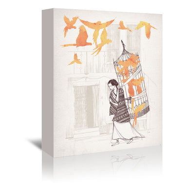 Frida by David Fleck Wrapped Canvas - Wrapped Canvas - Americanflat