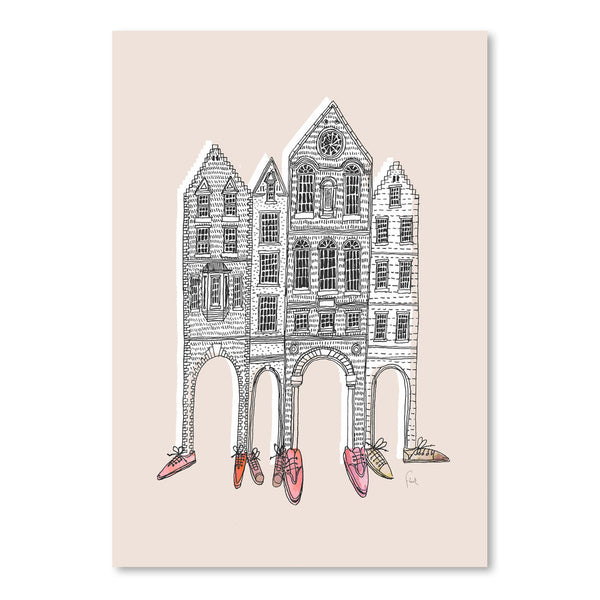 Friendly Buildings 2 by David Fleck Art Print