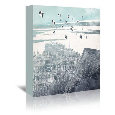 Kites At Dawn by David Fleck Wrapped Canvas - Wrapped Canvas - Americanflat
