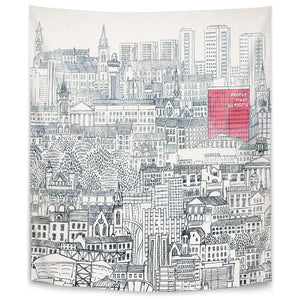 People Make Glasgow by David Fleck Tapestry