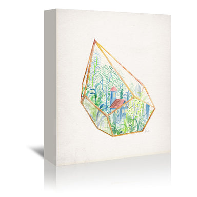 Succulent Terrariums by David Fleck- 3 Piece Wrapped Canvas Set - Wrapped Canvas - Americanflat