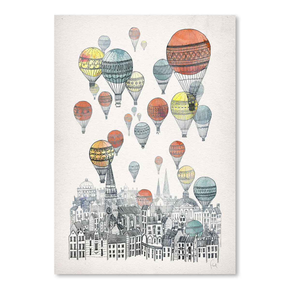 Voyages Over Edinburgh by David Fleck Art Print - Art Print - Americanflat