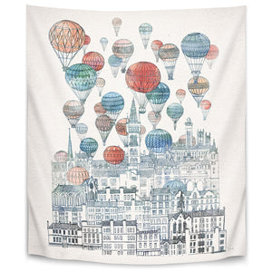 Voyages Over Glasgow by David Fleck Tapestry