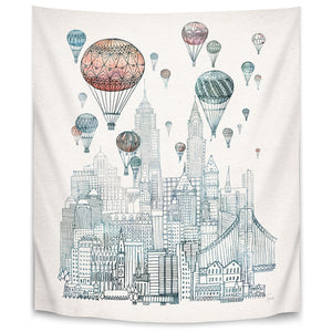 Voyages Over New York by David Fleck Tapestry
