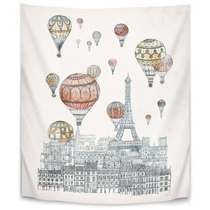 Voyages Over Paris by David Fleck Tapestry