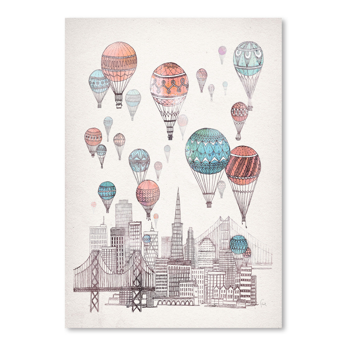 Voyages Over San Francisco by David Fleck Art Print - Art Print - Americanflat