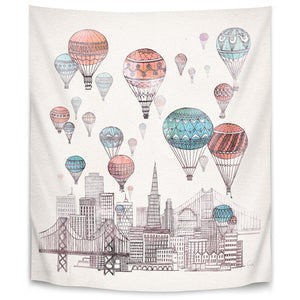 Voyages Over San Francisco by David Fleck Tapestry
