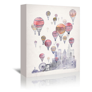 Voyages Over Santa Monica by David Fleck Wrapped Canvas - Wrapped Canvas - Americanflat