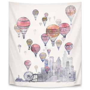 Voyages Over Santa Monica by David Fleck Tapestry