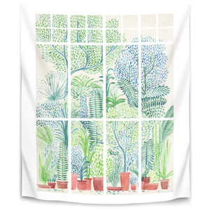 Winter In Glasshouses 1 by David Fleck Tapestry