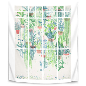 Winter In Glasshouses 2 by David Fleck Tapestry