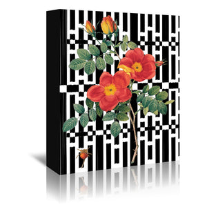 Rose Black & White 01 by New York Botanical Garden Wrapped Canvas