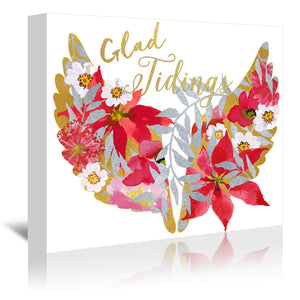 Glad Tidings by Edith Jackson Wrapped Canvas