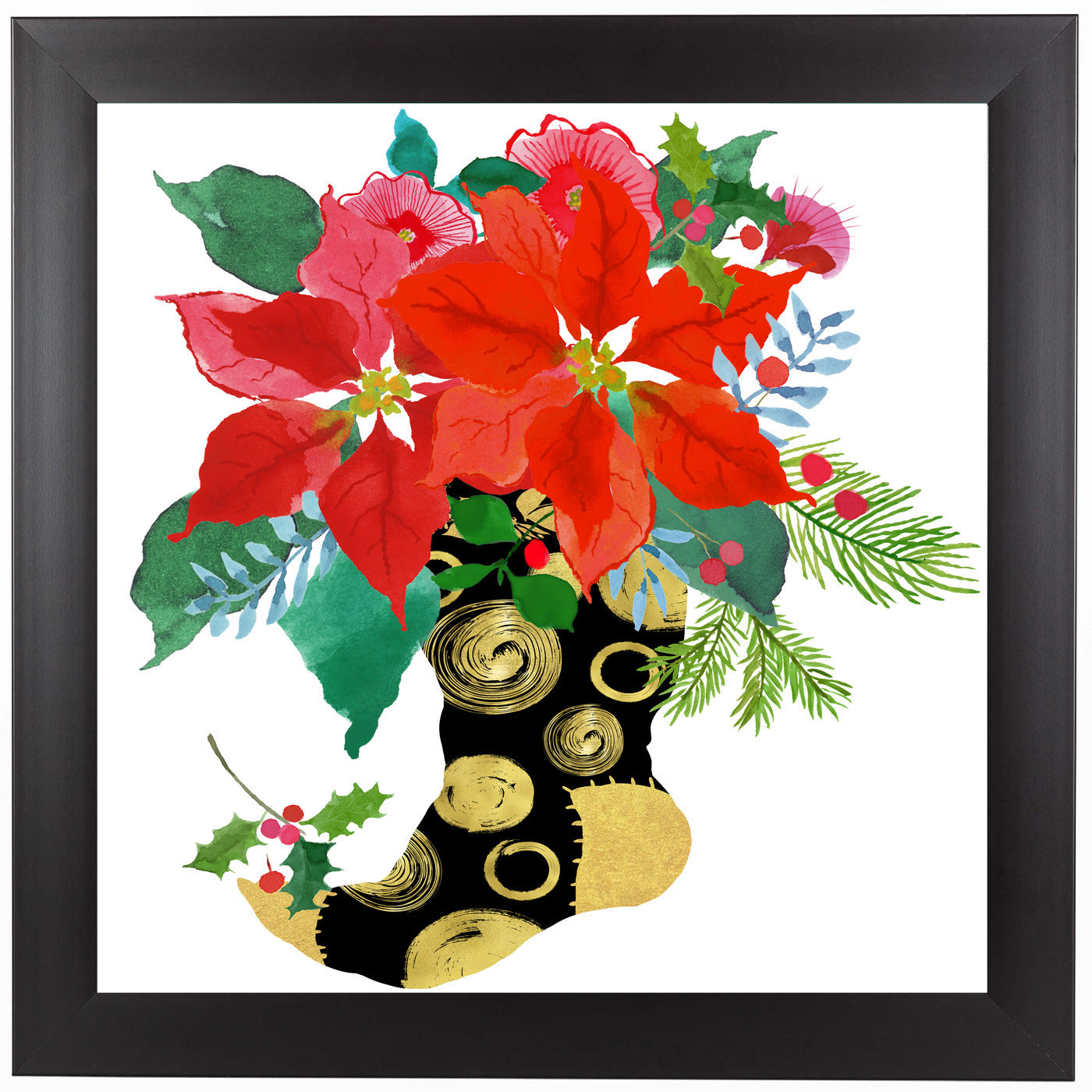 Christmas Stocking by Edith Jackson Framed Print