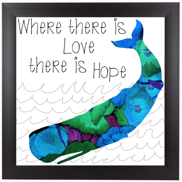 Love And Hope by Edith Jackson Framed Print