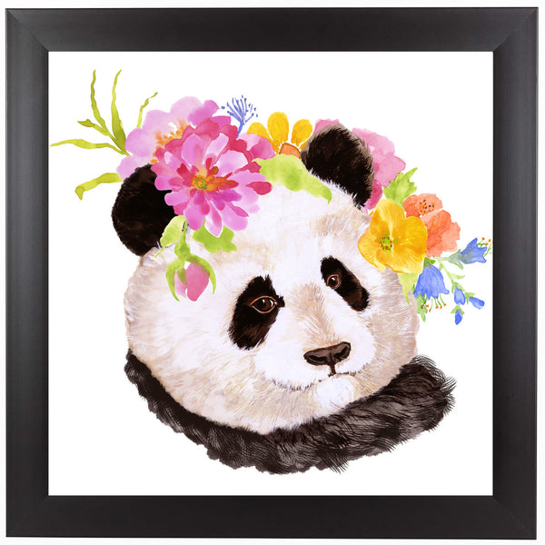 Panda by Edith Jackson Framed Print