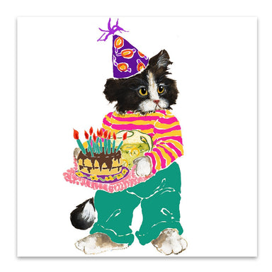 Birthday Cat by Edith Jackson Art Print - Art Print - Americanflat