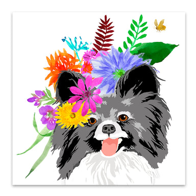 Flower Dog by Edith Jackson Art Print - Art Print - Americanflat