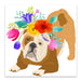Flower Brown Dog by Edith Jackson Art Print - Art Print - Americanflat