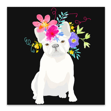 White Dog by Edith Jackson Art Print - Art Print - Americanflat