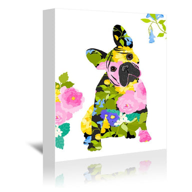 Bull Dog by Edith Jackson Wrapped Canvas - Wrapped Canvas - Americanflat