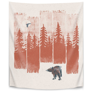 A Bear In The Wild by Ndtank Tapestry - Wall Tapestry - Americanflat