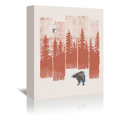 A Bear In The Wild by NDTank Wrapped Canvas - Wrapped Canvas - Americanflat