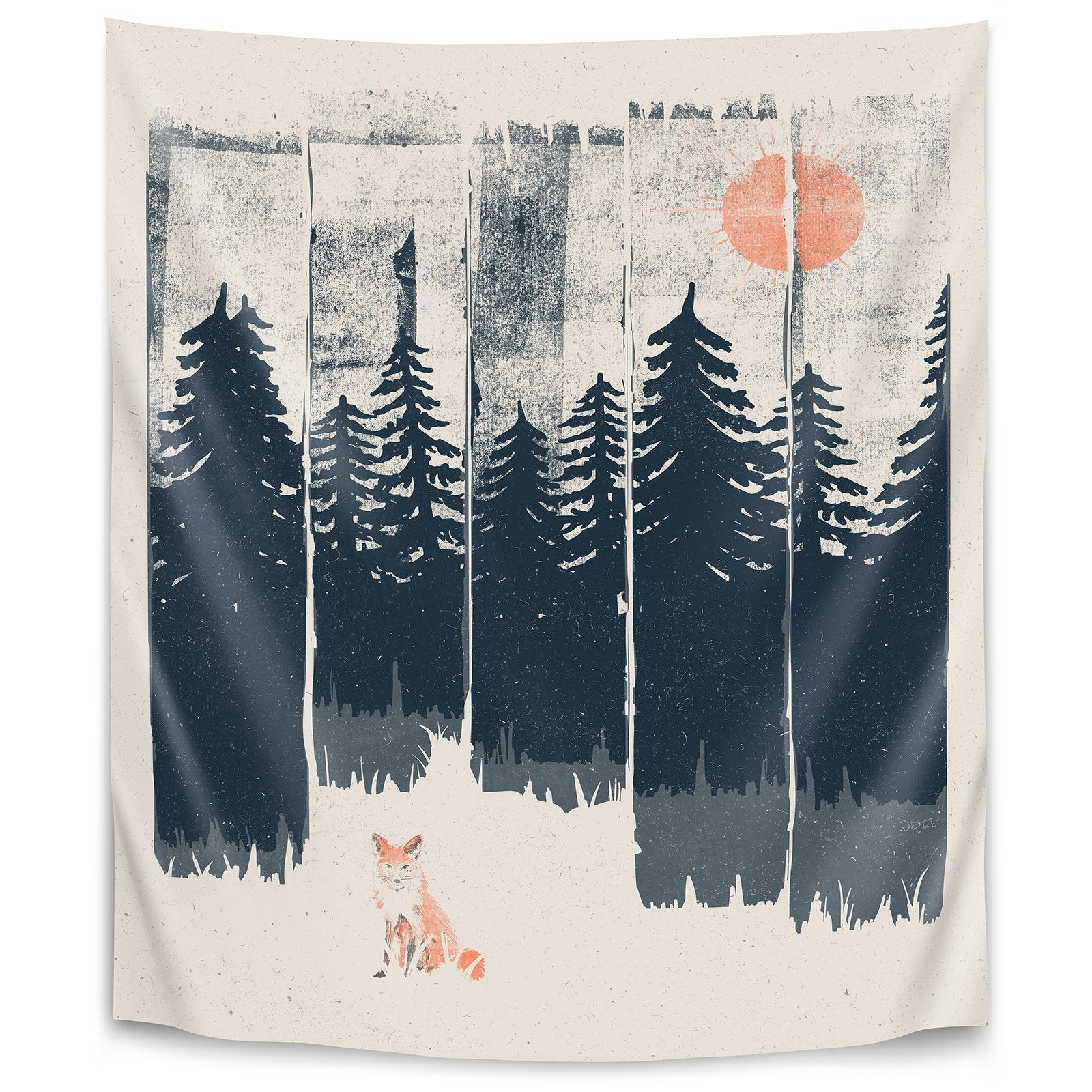 A Fox In The Wild by Ndtank Tapestry - Wall Tapestry - Americanflat