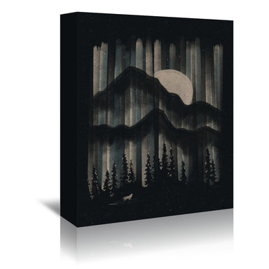 A Wolf In The Night by NDTank Wrapped Canvas - Wrapped Canvas - Americanflat